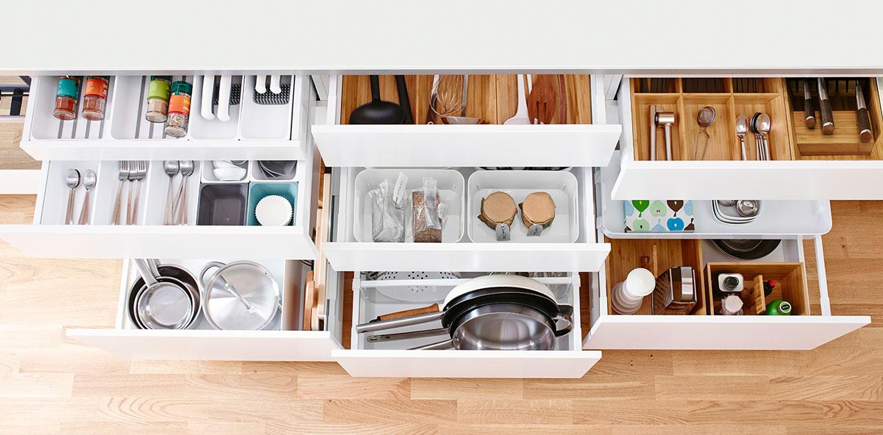 Cocinas ordenadas: sistemas de almacenaje 1